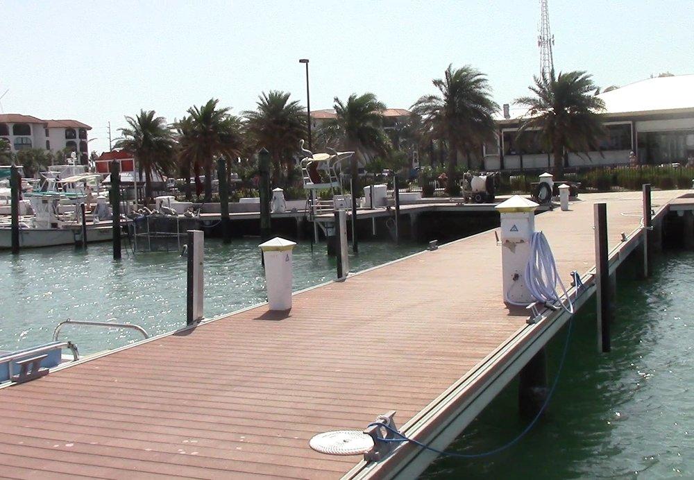 Faro Blanco Marina and their immaculate docks.