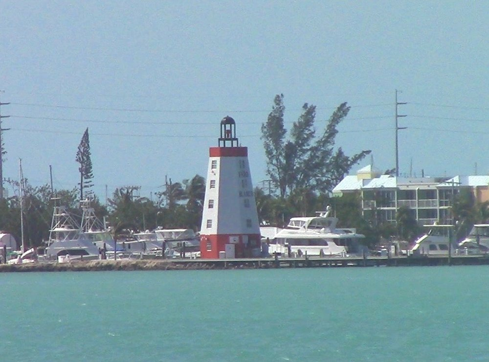 The Faro Blanco lighthouse features a green light and rooms you can actually stay in.
