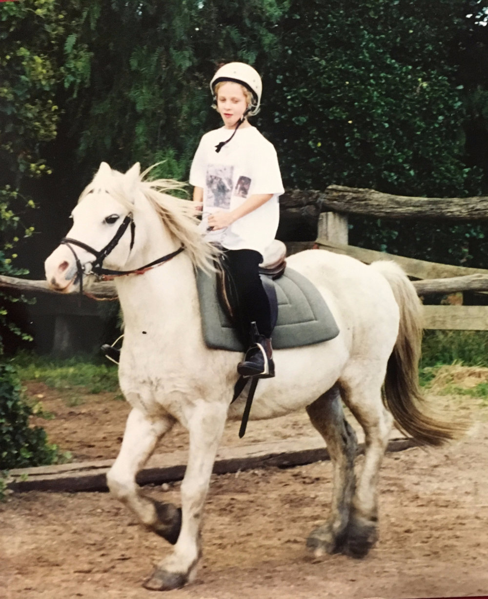 I look so surprised that I'm going to fast...what I should be surprised about is that I was allowed out in public with the homemade horse t-shirt atrocity I was rocking