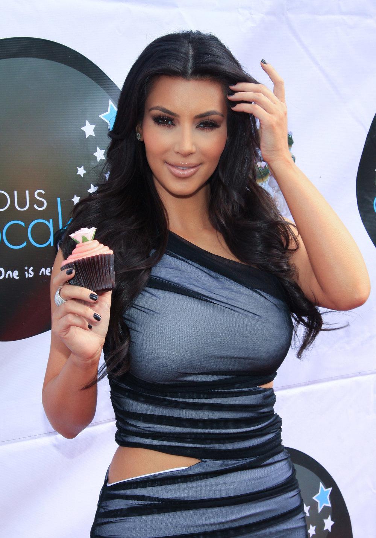Kim Kardashian at Famous Cupcakes Event