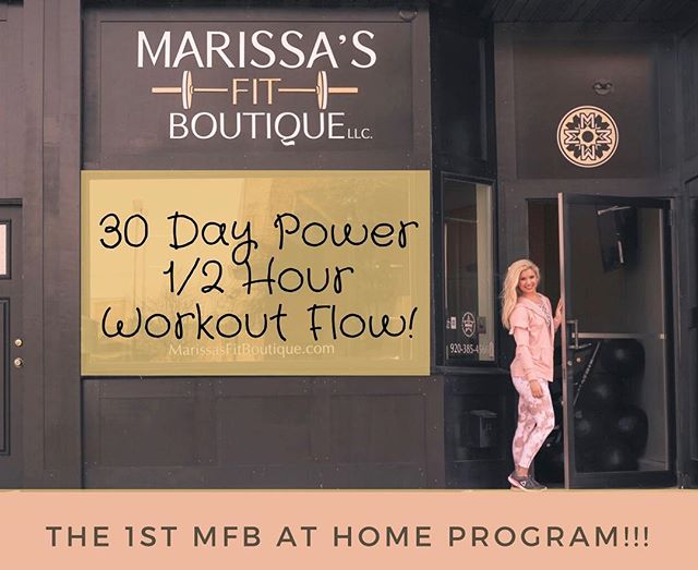 Ohhh guys I am so tickled pink excited to share the news!! . In just 19 days, you'll get to experience a piece of MFB anywhere in the world! . MFB will be offering 30 days of power half hour workouts and morning mantras to make sure you seize the day! . Our first ever at home program will challenge you to move your body everyday for 30 days straight! The workout flow will be a combination of strength training, HIIT, and core stability. . Join the movement of movement! . . . . . #marissasfitboutique #womenupliftingwomen #goforitgirl #personaltraining #oshkosh #turnfearintofaith #armstrongventures #movementismymedicine #strengthisbeauty #hiitworkout