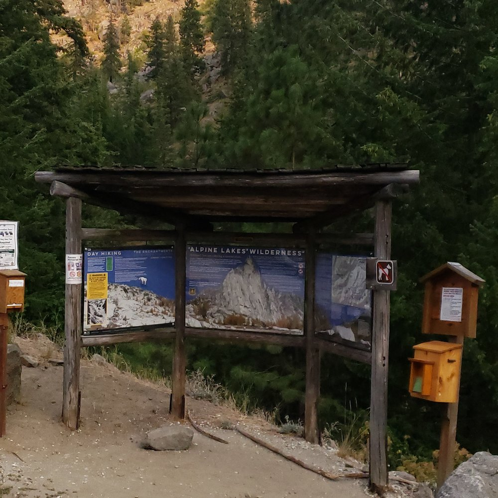 Snow Lake Trailhead - we made it!