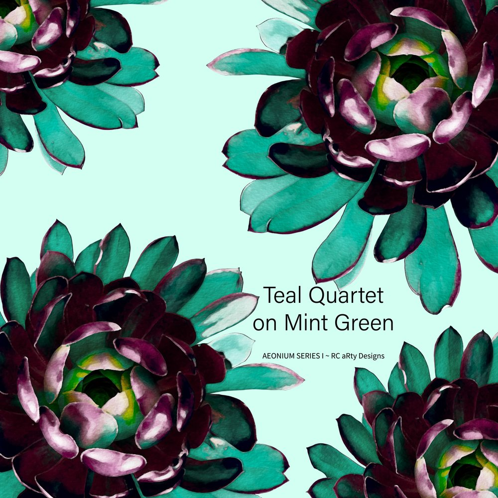Teal Quartet on Mint Green - text inc..jpg