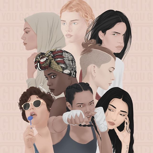 1. The world would be nothing without women 2. There is no right way to be a woman ok 3. Feminism isn't feminism unless it's intersectional 4. Support your fellow woman! Take the time to understand the complexities of female relationships! Love one another! I love you ! #internationalwomensday  Art by carola marin