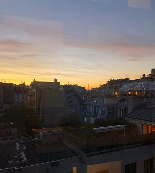 Sunsets in Paris make me feel strong