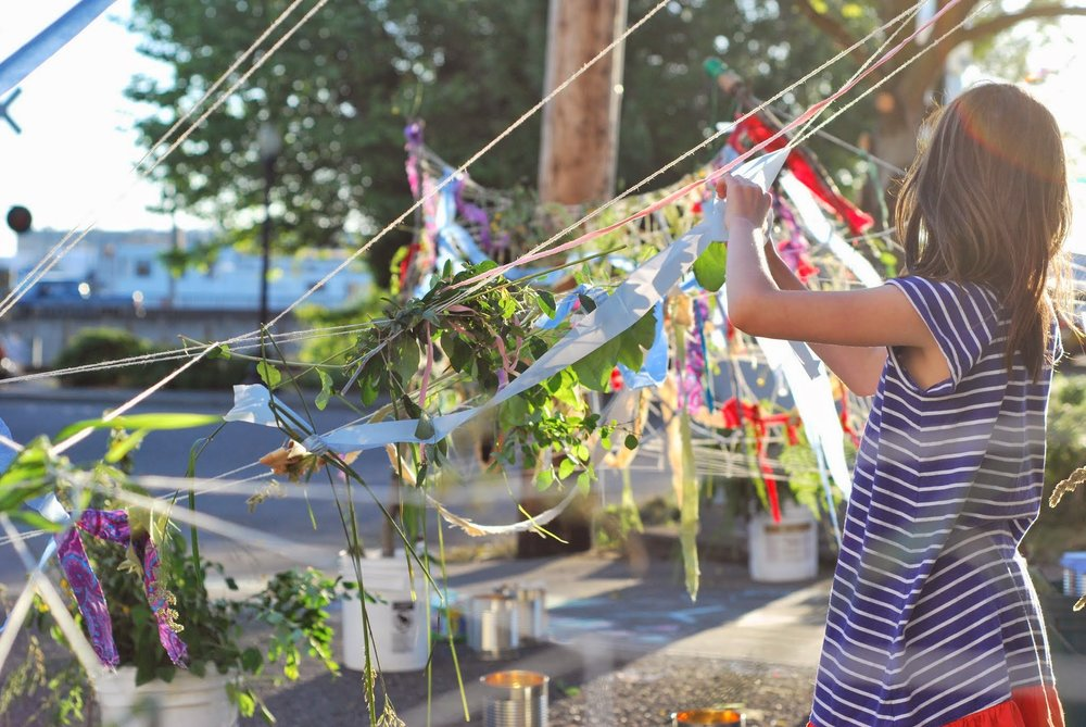 Community Weaving  at the Waterfront Artist Studio Collective, 2013