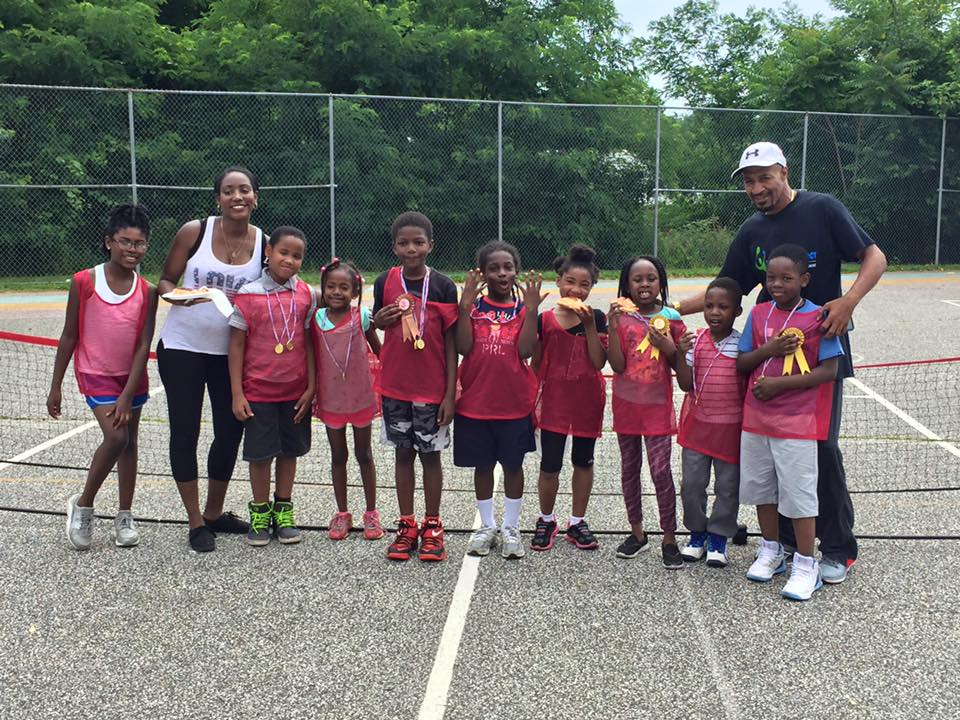 Nathaniel (far right) won an individual event at ACE - Baltimore's annual summer tournament against Ashburton Elementary.