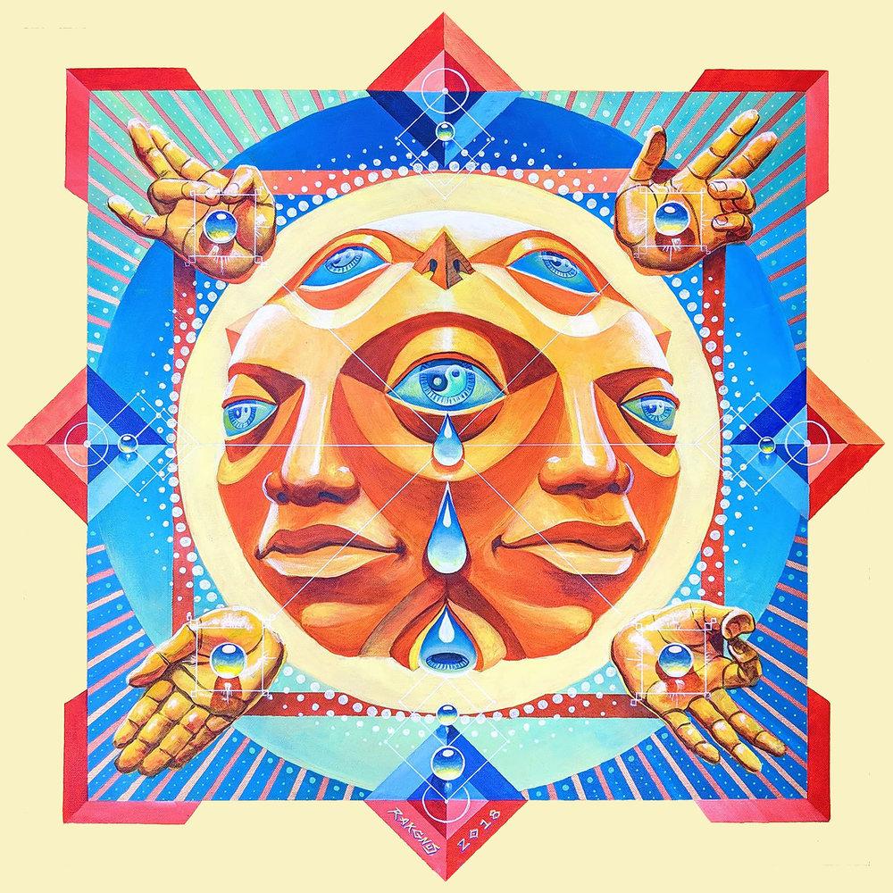 "Summer Solstice, Acrylic on canvas 30"" x 30""   ORIGINAL   SOLD"