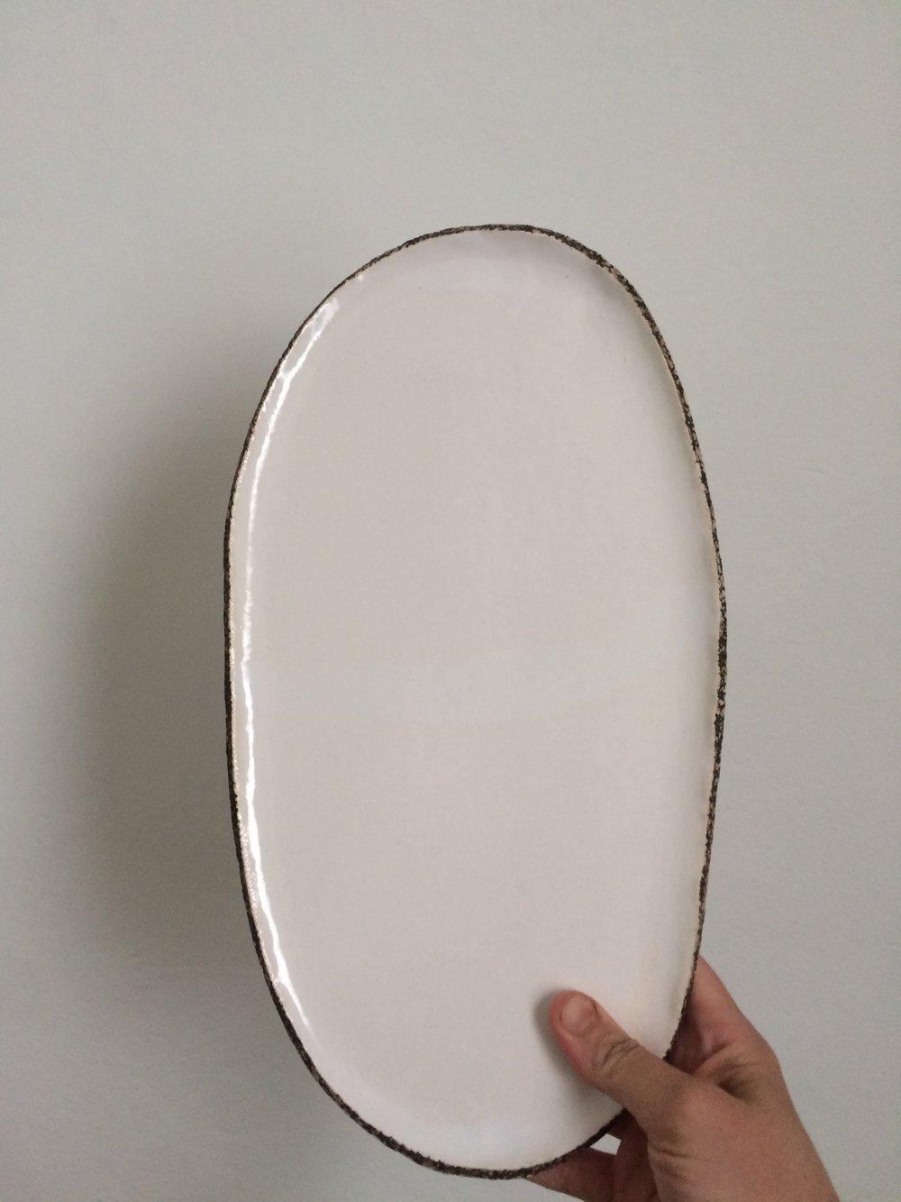 raw edge platter