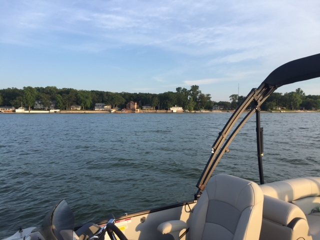 View of Caseville from Pontoon Boat - Caseville Bot Rental.JPG