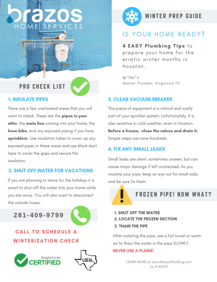 Winterization: Is your Home ready? 4 simple tips — Kingwood Plumbers