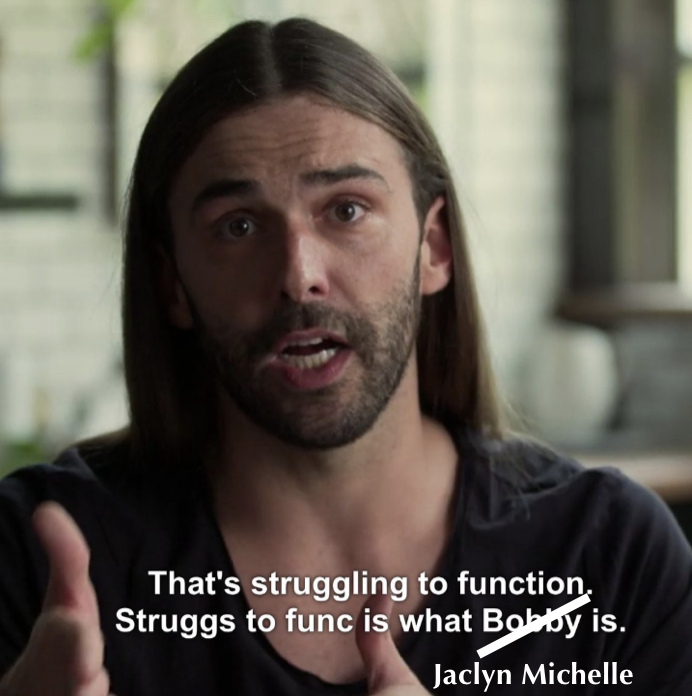 The Gospel According to Saint Jonathan Van Ness (JVN). Praise be. 🙌