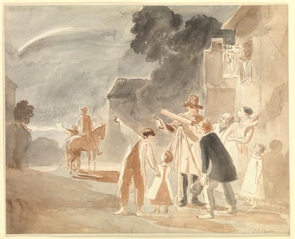Halley's Comet in 1835