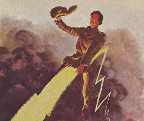 Davy Crockett rides Halley's Comet