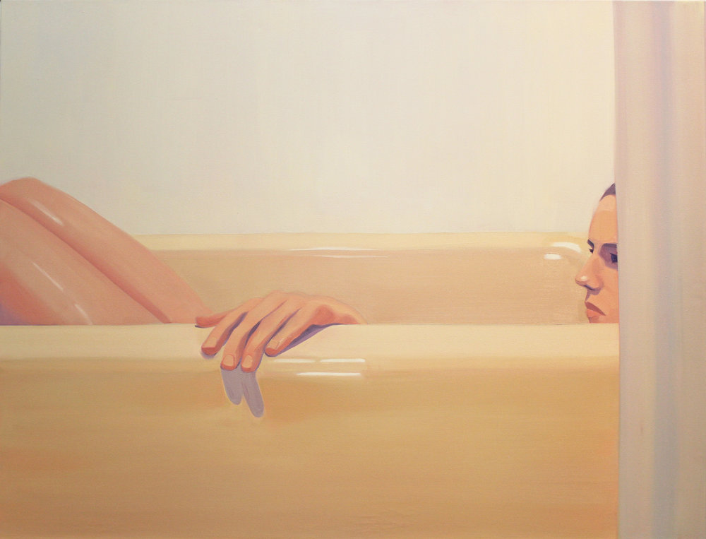 "Molly Bounds - ""Night Bath"" Oil on Canvas. 32 x 42 Inches. 2018."