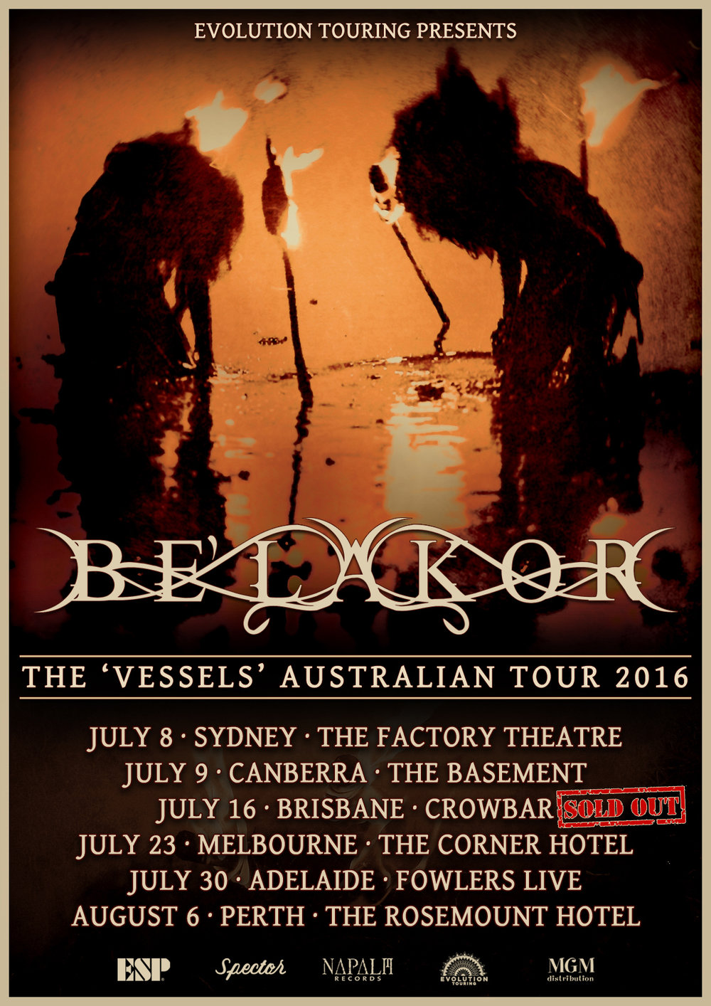 Be'lakor (AUS) - Australian Tour
