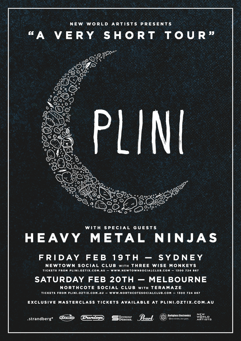 Plini (AUS) + Heavy Metal Ninjas (NZ) - 2 Exclusive Shows