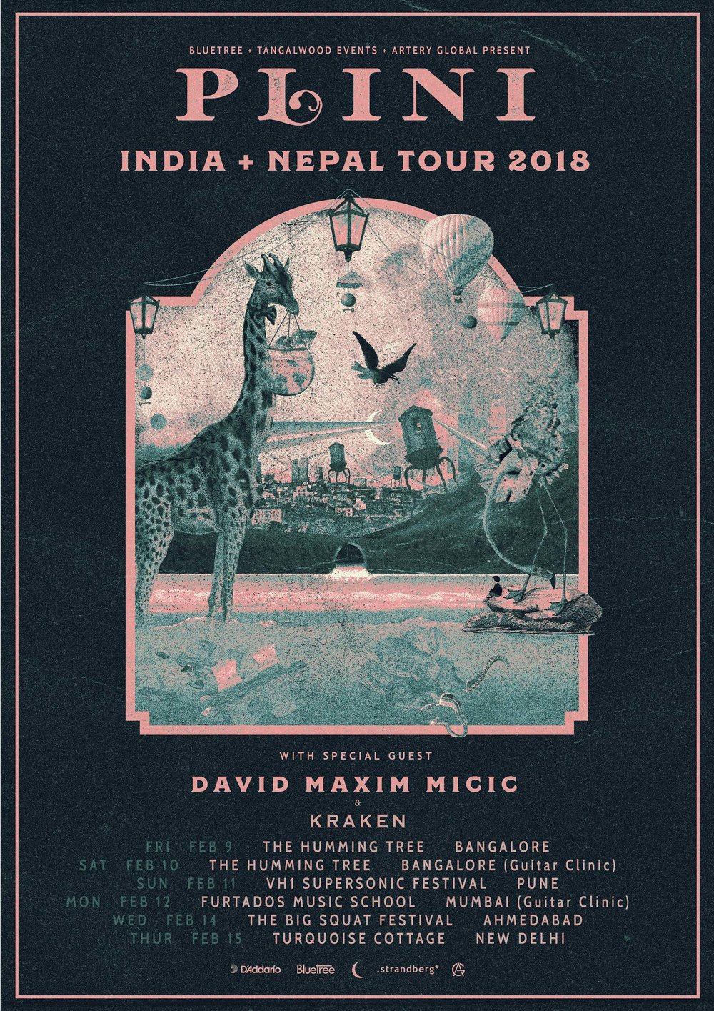 Plini (Aus) + David Maxim Micic (SRB) - India & Nepal Tour