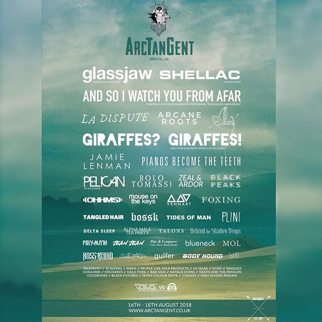 Catch @plini performing at @arctangentfestival this August! 🌙 🇬🇧 Look at that line up 😍