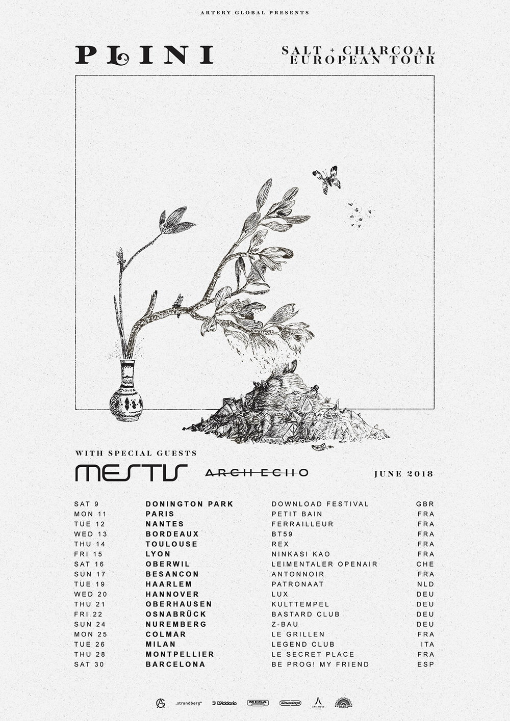 Plini (Aus) + Mestis (USA) + Arch Echo (USA) - UK & Europe