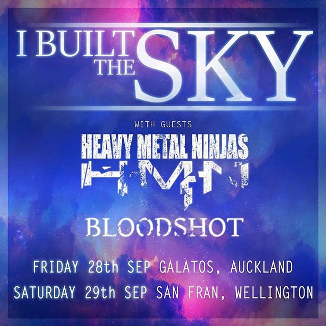 I built the sky tours New Zealand this September alongside Heavy Metal Ninjas and Bloodshot!  Tickets on sale now from the link in our bio!