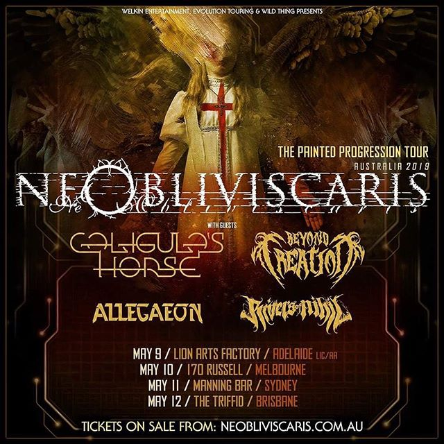 Australia! How's this for a line up - Ne Obliviscaris, Caligula's Horse, Beyond Creation, Allegaeon & Rivers of Nihil? These shows are gonna be HUGE! 😍⚡️🎉 Tour Dates 📅 & Tickets 🎟 from the link in our bio.