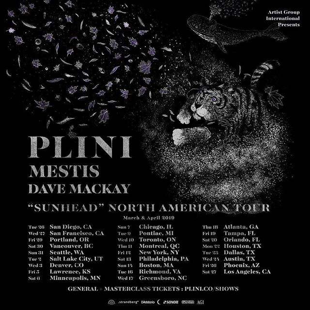 Plini returns to North America with Mestis & Dave Mackay in March/April! Tickets on sale from plini.co/shows ♥️