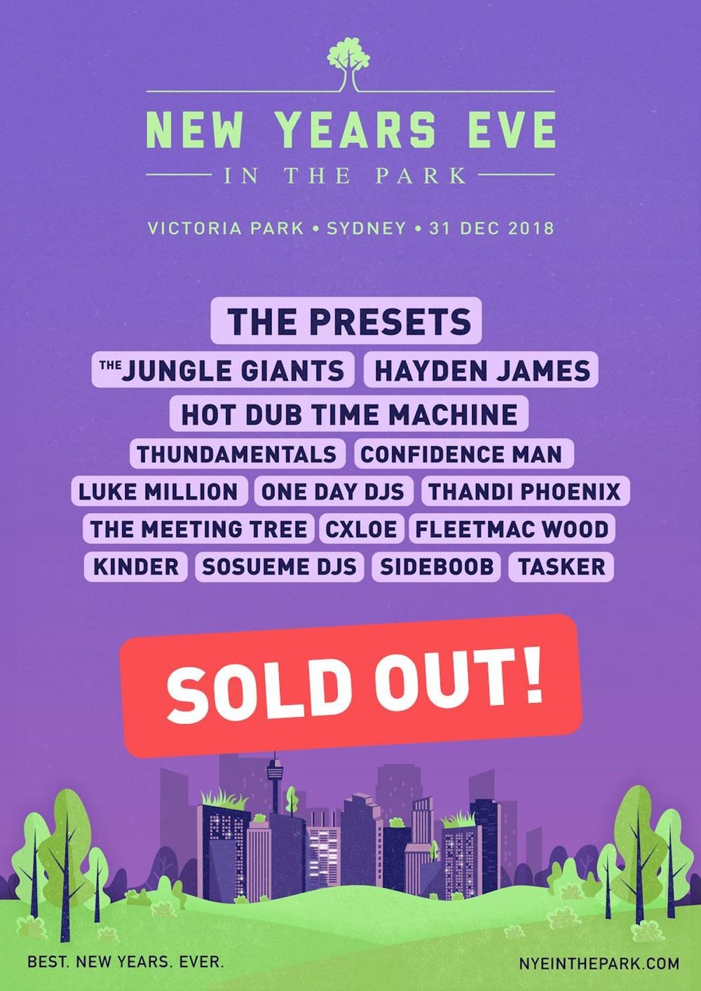NYE In The Park - Sydney, Australia