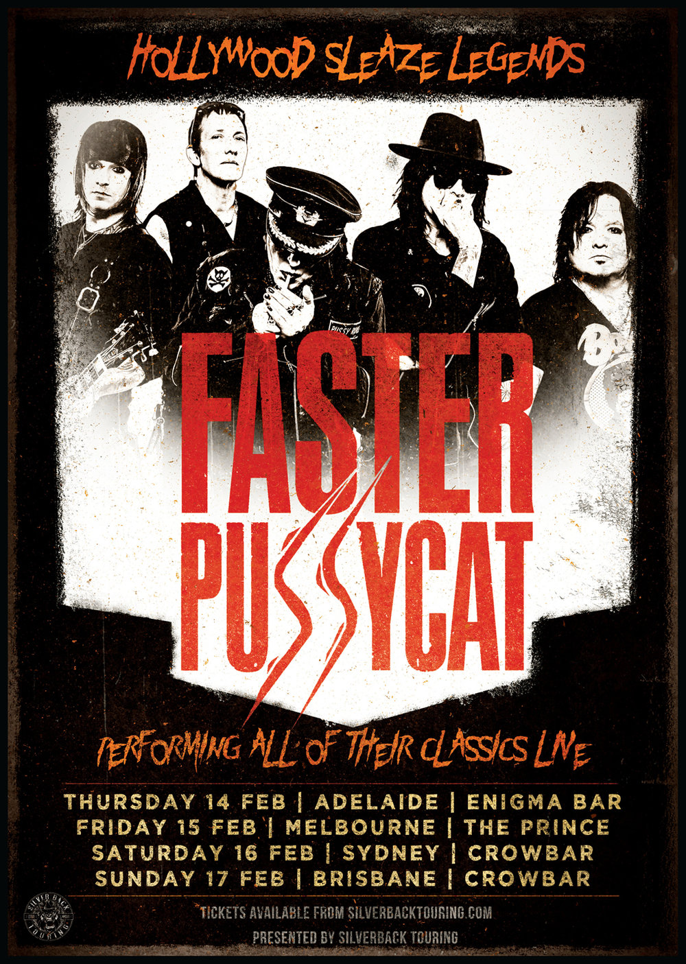 Faster Pussycat (USA) - Australian tour