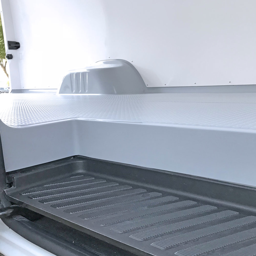Floor sits perfectly on the van's integrated step