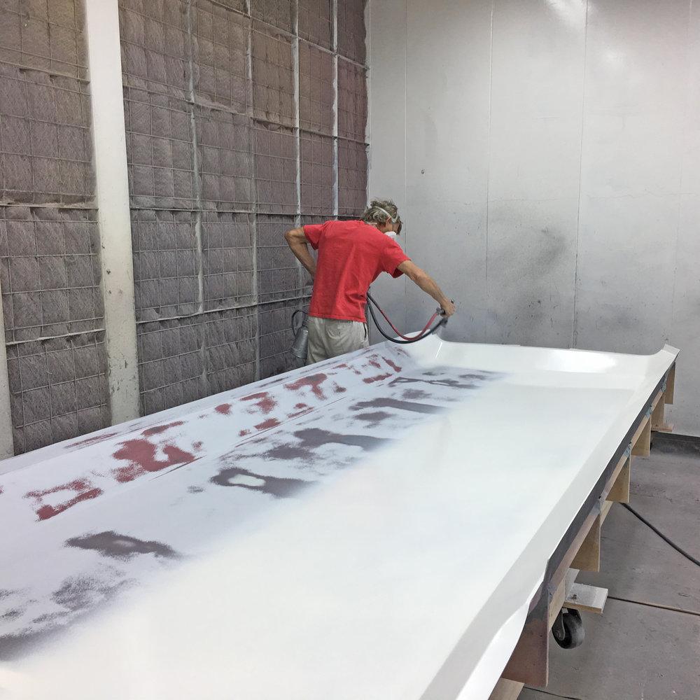 Positive/plug being prep'ed for mold creation