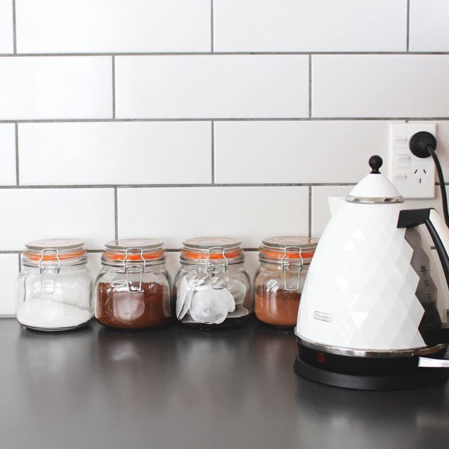 I'm loving this little tea and coffee setup in my kitchen, its where I start my morning every day . . . . . . #nzbloggers #nzblogger #nzblog