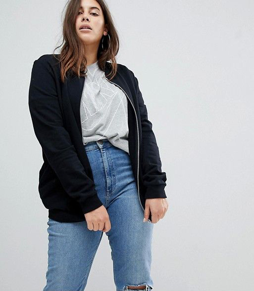 ASOS DESIGN Curve ultimate bomber jacket in sweat