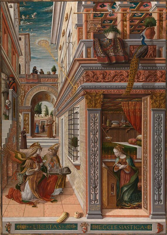 Fig.5 -  'The Annunciation with Saint Emidius' Carlo Crivelli 1486