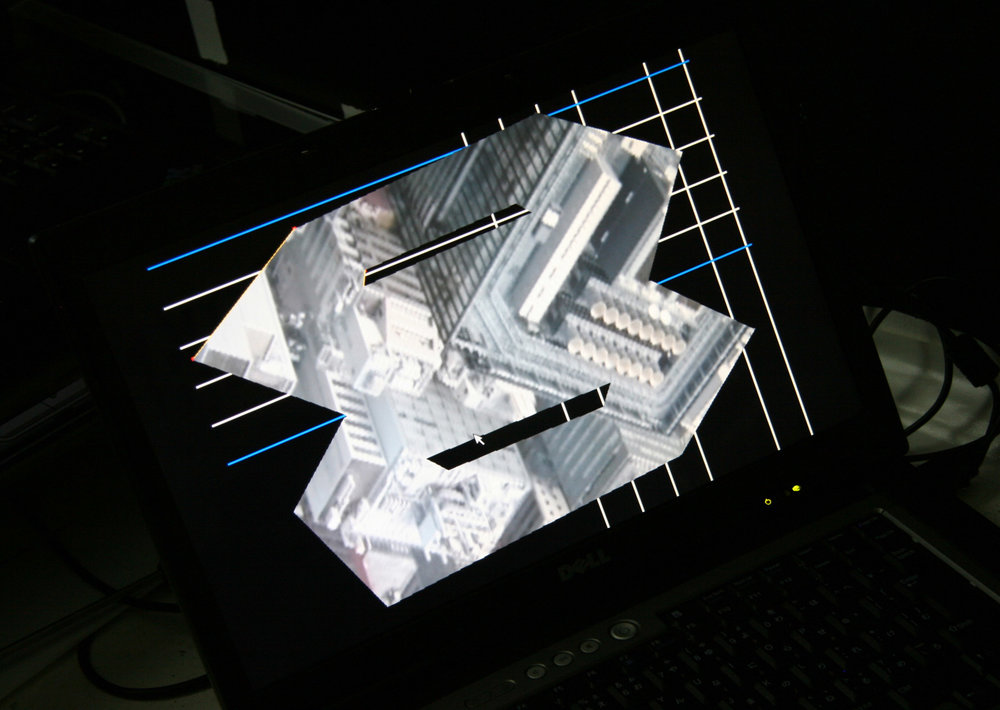 Fig.10 - 'Intangible Spaces' Tokyo 2010 Nathan Cohen - computer display image for projection programmed by Tachi Lab