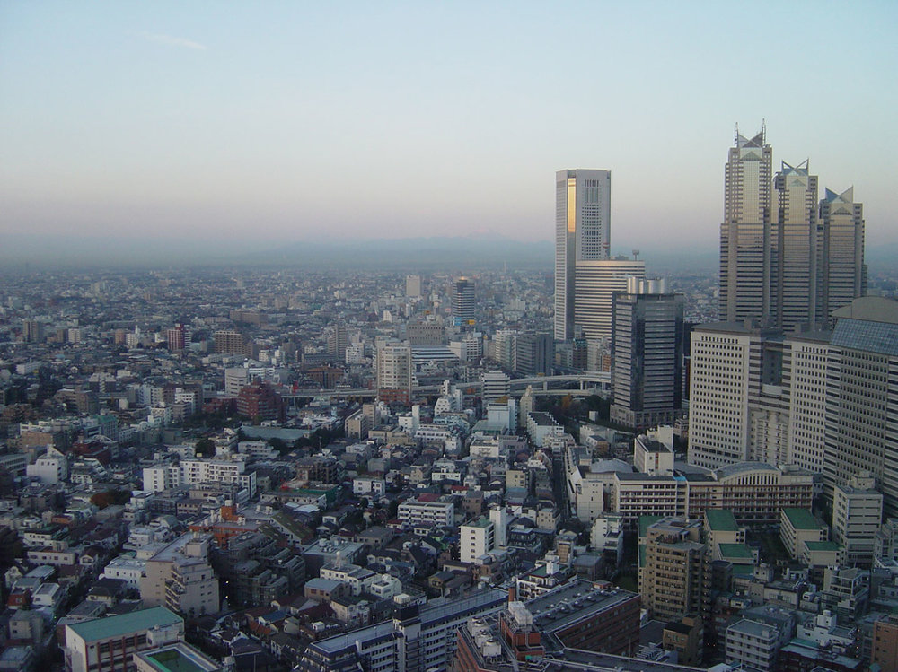 Fig.17 - Tokyo, aerial view