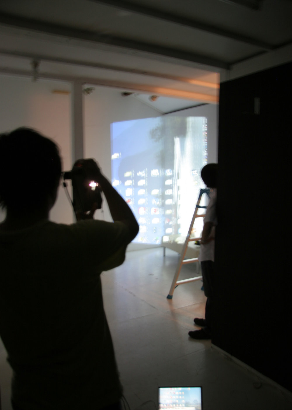 Fig.18 - 'Intangible Spaces': setting up the projections