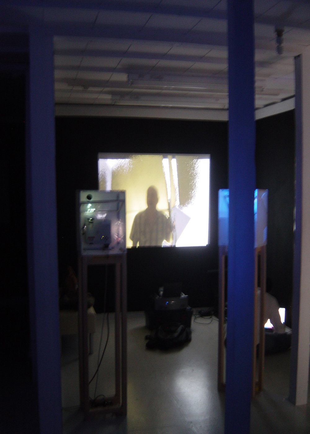 Fig.22 - 'Intangible Spaces' Nathan Cohen Tokyo projectors and interactive video set up