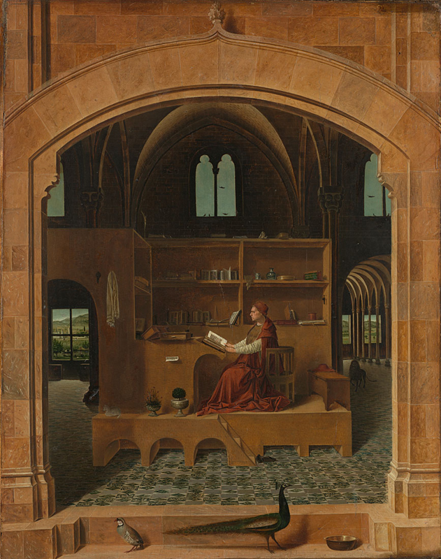 Figure 1:  St Jerome in his Study   ( c.1475 )    ANTONELLO da Messina     (National Gallery London)