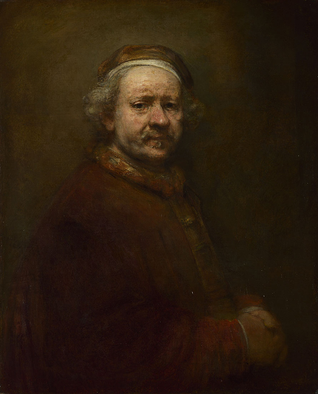 Figure 6: Self Portrait at the Age of 63 (1669)  REMBRANDT van Rijn (National Gallery London)