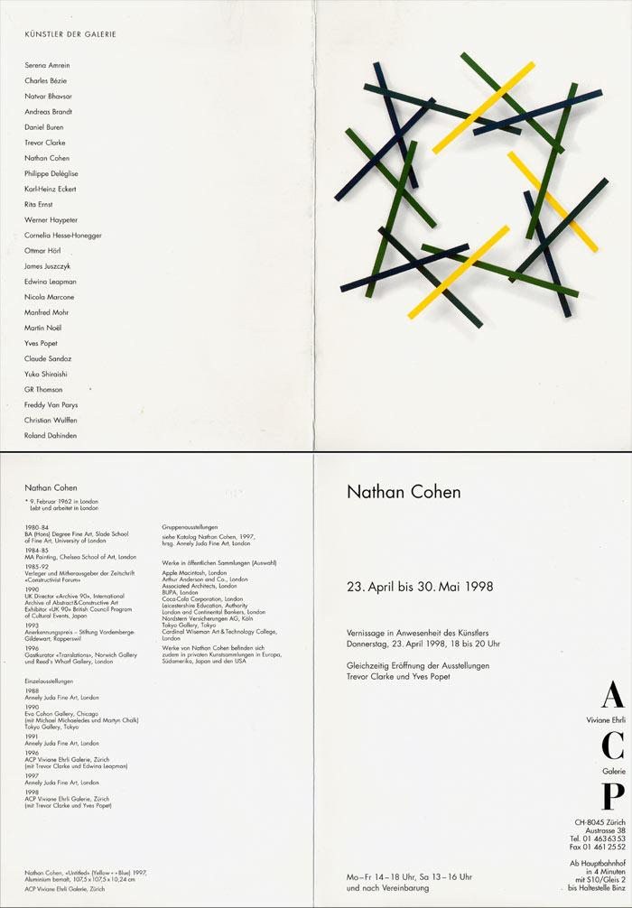 1998 ACP   Viviane Ehrli Galerie, Zürich, CH