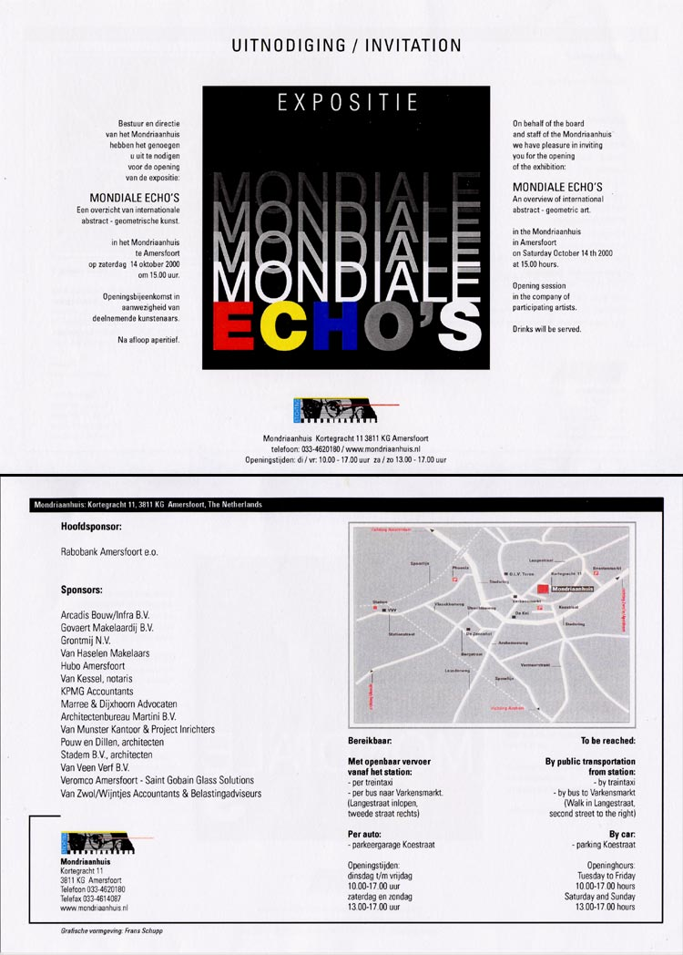 2000 Mondiale Echo's   Mondriaanhuis, Amersfoort, NL