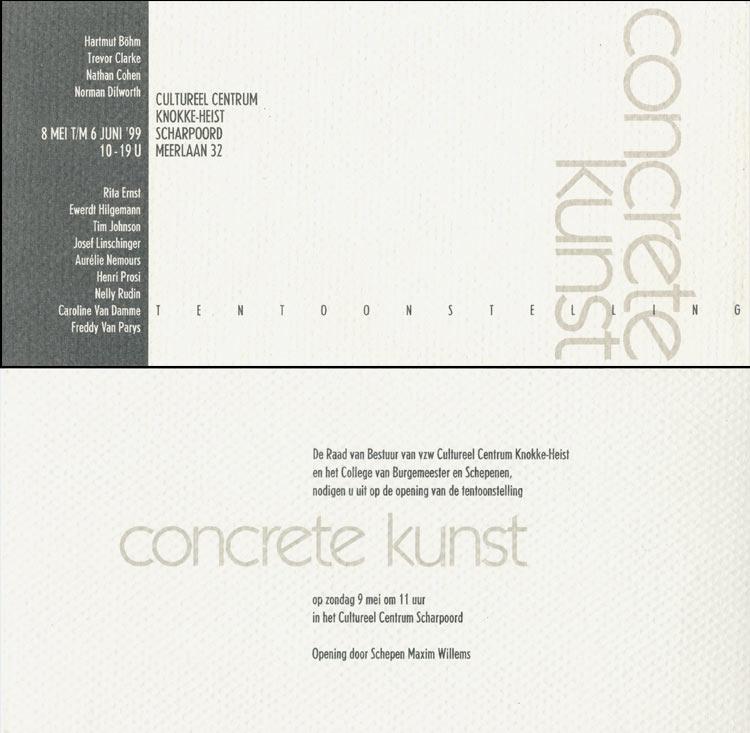 1999 Concrete Kunst    Knokke-Heist Museum, B