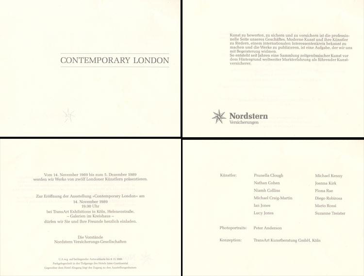 1989 Contemporary London   Galerien im Kreishaus, Köln, D