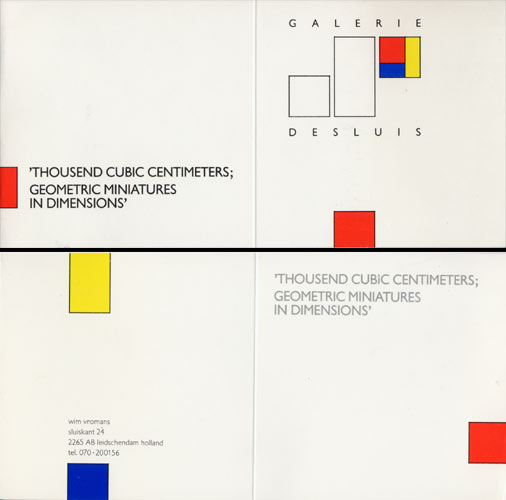 1987 >1000cm³, Geometric Miniatures   Galerie de Sluis, Leidschendam, NL