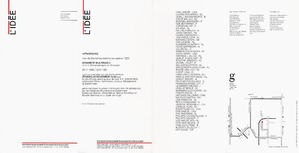 1990 Konkrete Multiples II   Galerie L'Idée, Zoetermeer, NL