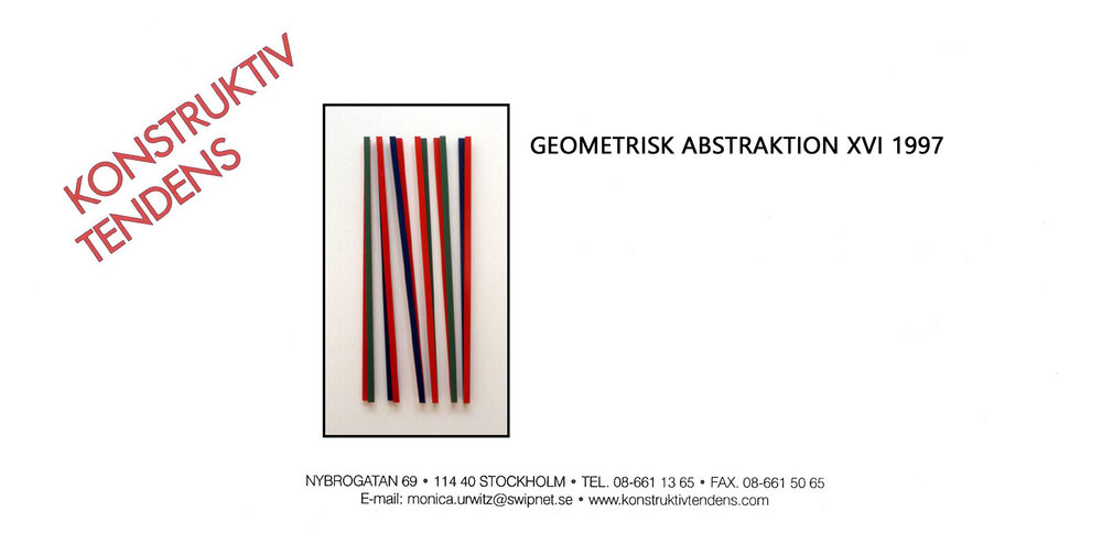 1997 Geometrisk Abstraktion XVI   Galerie Konstruktiv Tendens, Stockholm, SWE