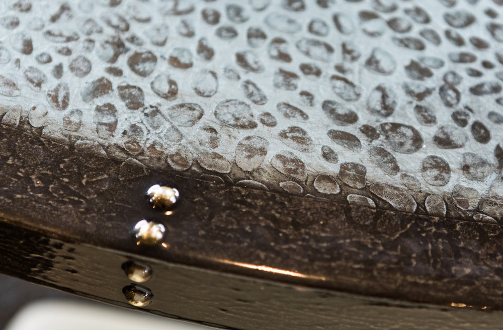 Closeup of custom table top