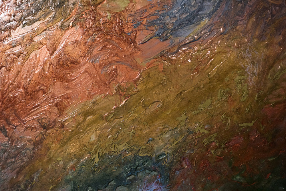 Closeup of custom art