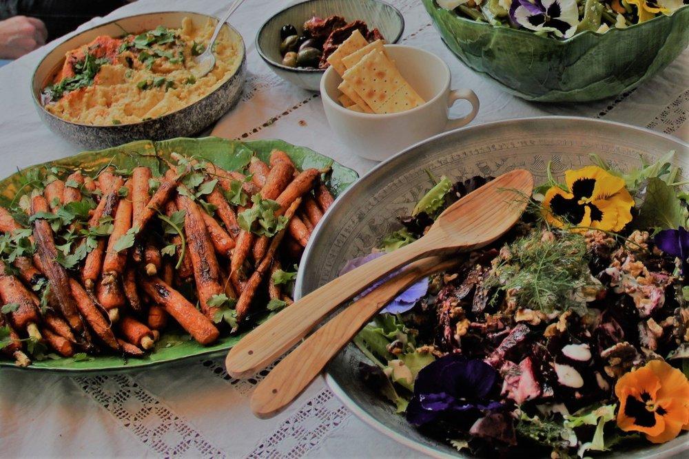 Gezond groentenbuffet